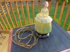 1700's-1800's Lady Era Tiffin Glass Lamp Antique 1930's Electric 10 Inches Rare