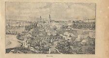 Stampa antica BELLUNO veduta panoramica Veneto 1896 Old Antique Print