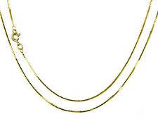 9ct Yellow Gold Venetian Box Chain 22inch 55cm   0.8mm Wide Long  Luxury Chain