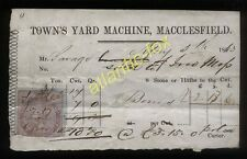 1863 MACCLESFIELD, TOWN'S YARD MACHINE, RECEIPT FOR BONES, MR. SAVAGE.