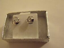 EARRINGS BOUCLES OREILLES WHITE GOLD FILLED STUD EARRINGS new