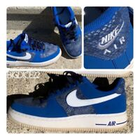 Nike Air Force 1 Mens Size 9 Low Top Blue Year Of The Snake Skin 488298 410