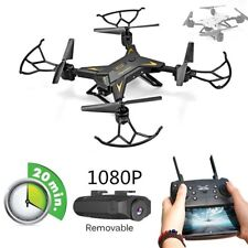 Black 5.0 MP Camera 1080P WIFI FPV Selfie Drone Professional Foldable Quadcopter