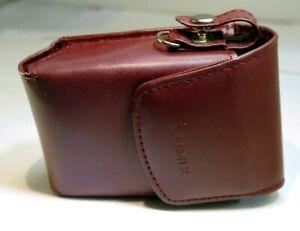 "Panasonic Lumix DMC camera Protective Leather Pouch Case small 3.5X2.5X1.5"""