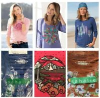 5-CT LOT Sahalie Women's Saturday Market Tee Shirts Tops Boho T-Shirts NWT MED