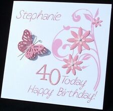 Personalised Handmade Birthday Card 30th 40th 50th 60th 70th 80th ANY AGE