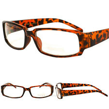 Vintage Tortoise Brown Frame Eyeglasses Clear Lens Designer Mens Womens New UV