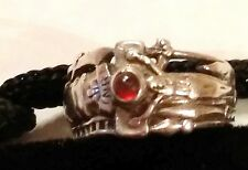 JAMES AVERY MARTIN LUTHER CABACHON GARNET RING RETIRED Sterling Silver 5.25 sz