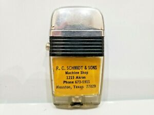 "Vintage Working Scripto VU Lighter ""R. C. SCHMIDT SONS MACHINE SHOP""   1063.29"