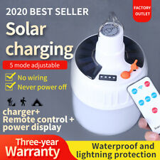 Portable Solar Powered LED bulb Emergency Camping tent Lamp 3 Models
