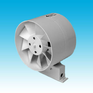"""4"""" 100mm dia IN LINE DUCT EXTRACTOR FAN with TIMER for DUCTING, TOILET, BATHROOM"""