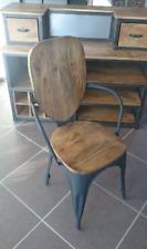 Chaise industrielle vintage en bois