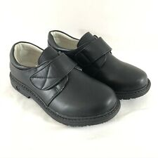 Skoex Boys Loafers Dress Shoes Monk Strap Faux Leather Black Size 34 US 2.5