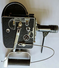 SUPERBE Caméra 8mm H-8 - Paillard BOLEX + Poignée & Zoom Reflex BERTHIOT