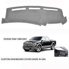 New Dodge Ram 1500 2500 Truck Custom Silver Gray Dashboard Dash Cover 1998-2001
