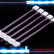🔴 5x RGB LED Stripe Schnell Verbinder Kabel Adapter 4 Pin Stecker Licht Band