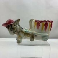 Vintage Donkey Horse Pulling Cart Planter Maroon Baseball Hat - Unknown Maker
