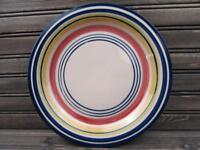 Multi Stripe by Pier 1 Dinner Plate Multicolor Bands L119
