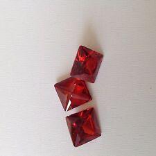 5 piezas de 5mm Princesa-faceta Ant-Hill Granate Cubic Zirconia Piedras Preciosas