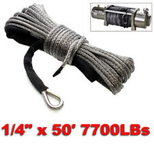 15m 6mm 7700LBs Synthetic Towing Rope Winch Rope String Line Cable for ATV UTV