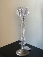"Slender Crystal Candleholder 14"" Tall Candelabra Wedding Centerpiece"