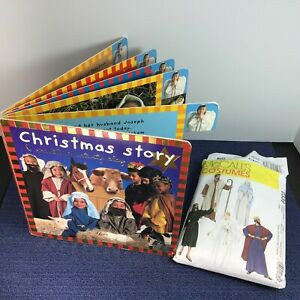 HB Book: NATIVITY PLAY For Kids Goes w/ McCalls Costumes Sewing Pattern Med 2339
