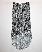 ATMOSPHERE Brand Women's Black White High Low Skirt Size 6 BNWT #TM85