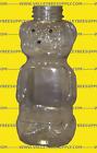 Honey Bear Bottles, 8 oz. Flat Front/Back & Flip Top Lids w/Seals (lot of 10)