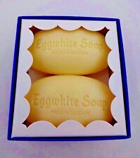 Eggwhite facial soap two 1.86 oz bars chamomile Belgium made Eiwit Zeep gift box