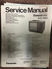 Panasonic Service Manual for Model AG-560