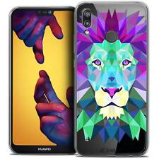"Coque Housse Etui Pour Huawei P20 LITE (5.84"") Polygon Animal Souple Fin Lion"