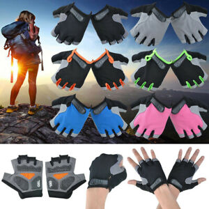 Race GEL Silicone Pad Non slip Palm Cycling Bicycle Gloves Half Finger Mittens