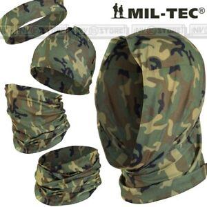 HEADGEAR MILTEC Scaldacollo Sciarpa Cappello Passamontagna Multi Uso Woodland
