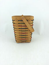 Longaberger 1996 Woven Traditions Large Peg Basket w Protector