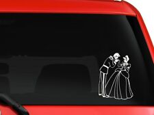 """Cinderella and the Prince children story book characters decal sticker 7"""" White"""