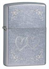 Zippo Windproof Street Chrome Lighter, Heart to Heart, 24016, New In Box