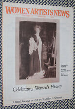 WOMEN ARTISTS NEWS 1983 ILSE BING, Alice Pike Barney, Kay Gardner, Feminist Art