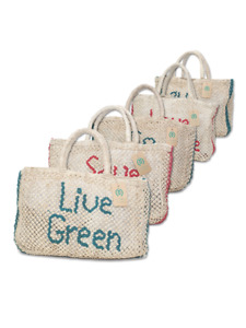 Luxury Jute Shopping /Summer Beach Holiday Bags - 100 % Macrom hand made Natural
