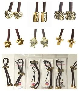 NEW Pulleez Sliding Ponytail Holders Featuring Metal Charms - You Choose