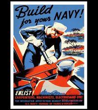 Join Navy World War 2 Propaganda Poster PHOTO Build US Navy Sailors Recruiting