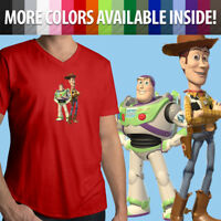 Unisex Mens Tee T-Shirt Toy Story Buzz Lightyear Sheriff Woody Best Friends Cool