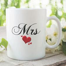 Mrs Mug Wedding Gift Bride Hen Present Wife Anniversary Coffee Tea Cup WSDMUG870