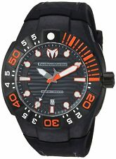 Technomarine TM-515028 Reef Men's 48mm Steel Carbon Fiber Black Dial 500M Watch