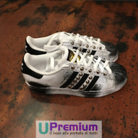 Adidas Superstar Vintage Borchie Argento [Prodotto Customizzato] Scarpe ORIGINAL