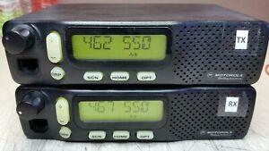 MOTOROLA REPEATER 2 CHANNEL UHF 440 - 470 FREE PROGRAM 40 WATTS POWER SUPPLY