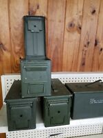 "3 Ammo Cans Military Surplus .50 cal size 5.56 Can US 50 Cal M739A1 5.5"" x 7'"