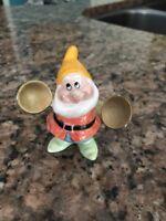 RARE Disney Schmid Happy Snow White Dwarf Ceramic Porcelain Figure Figurine