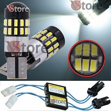 2 Lampade Led T10 30 SMD 3014 No Errore CDB BIANCO Canbus 5W + 2 RESISTENZE