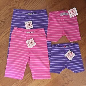 HANNA ANDERSSON girls 80 90 100 110 120 130 150 cotton STRIPED BIKE SHORTS NWT