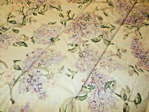 Ralph Lauren CAPE ELIZABETH Full Queen Comforter Lilacs Floral Tea Stained Tan